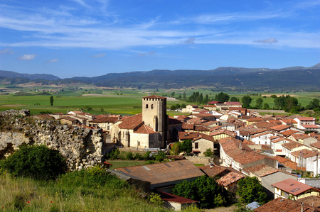 cid: village of Santa Gadea del Cid, Burgos Province, Spain Stock Photo