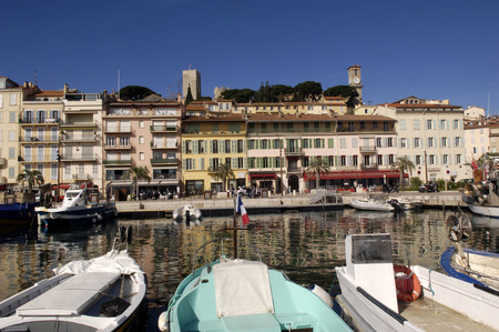 french riviera: Old Town of Cannes, French Riviera, France