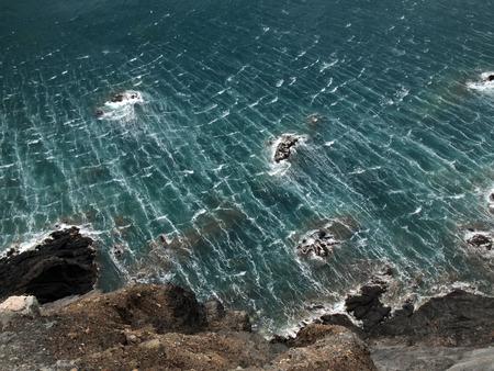 seawater: the wind tramuntana leaving its mark on the seawater, Colera, Costa Brava, Girona, Spain