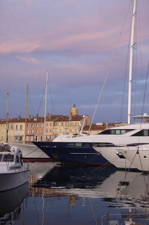 tropez: Sunset in Saint Tropez, French Riviera,