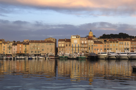 french riviera: Harbor in Saint Tropez, French Riviera,