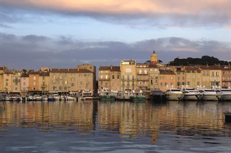 Harbor in Saint Tropez, French Riviera,