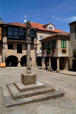 galicia: La Leña Square, Pontevedra, Galicia, Spain Stock Photo