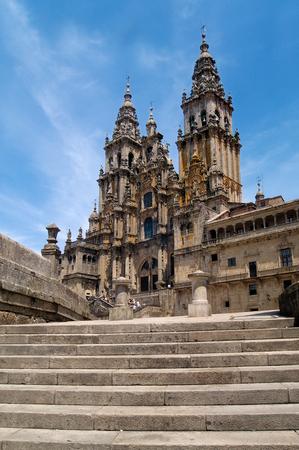 compostela: Cathedral Santiago de Compostela, Galicia,Spain, Stock Photo