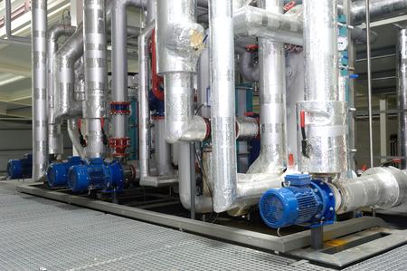 refrigeration system on a storehouse Standard-Bild