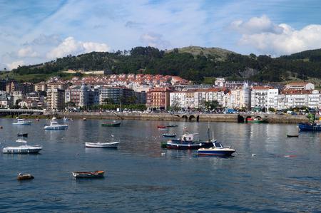 cantabria: view of Castro Urdiales, Cantabria, Spain