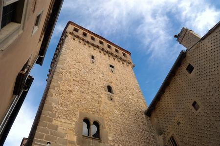 segovia: Tower of Torreon de Lozoya, Segovia, Castilla y Leon, Spain