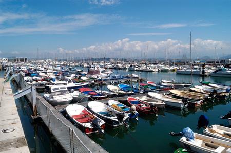 cantabria: Harbor of Santander, Cantabria, Spain Stock Photo
