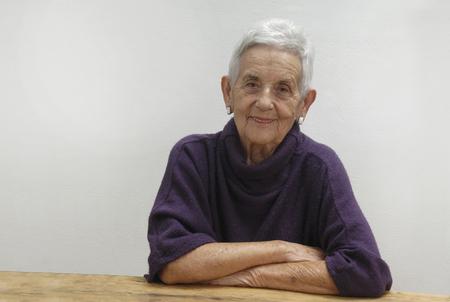 portret van senior vrouw