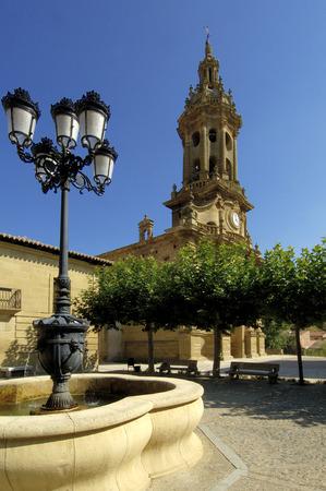 rioja: Church of Cuzcurrita de Rio Tiron, La Rioja, Spain