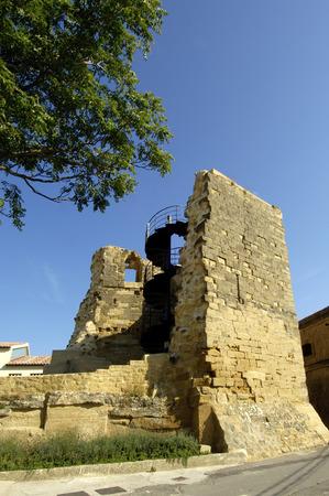 rioja: Walls of Briones, La Rioja, Spain Stock Photo