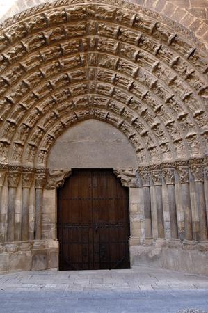 navarra: Puerta del Juicio, Cathedral of Tudela, Navarra,Spain