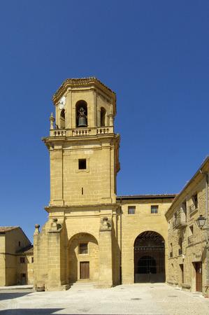 rioja: La Asunci�n Church, Sajazarra, La Rioja, Spain Stock Photo