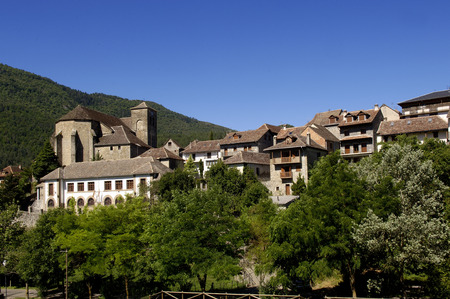 huesca: HechoVillage, Hecho and Anso Valley, Huesca Aragon, Spain Stock Photo