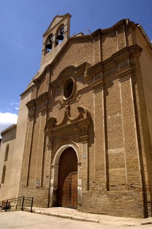 bartolome: San Bartolome church ,XVIII century , Borja, Zaragoza, Aragon, Spain