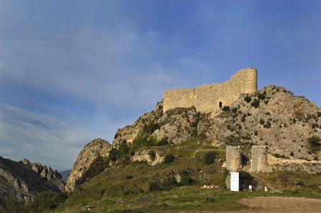 province: Las Rojas Castle, La Bureba, Burgos province, Castilla-Leon,Spain