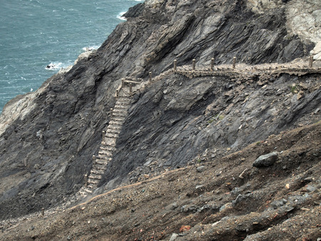 mediterranea: stairs down the sea near Portbou, Costa Brava, Girona, Spain
