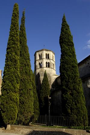 romanesque: Romanesque church of Sant Pere de Galligans, Girona, Spain Stock Photo