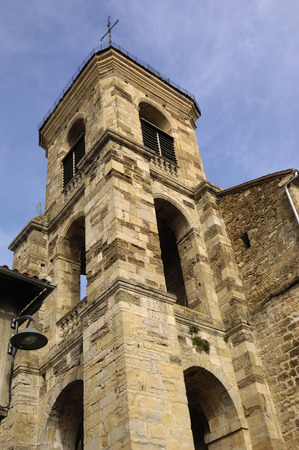 and saint: Cathedral of Saint Cere, Lot Valley, France Stock Photo