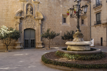 episcopal: Square anf Episcopal Palace, Solsona, Lleida Province, Spain Editorial