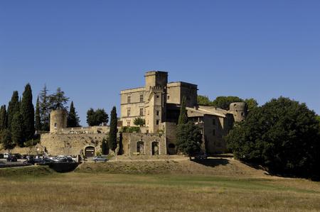 lourmarin: Castle of Lourmarin, Provence, France Editorial