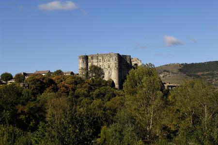 romaine: Castle of Alba la Romaine, Rhone-Alpes, Ardeche, France
