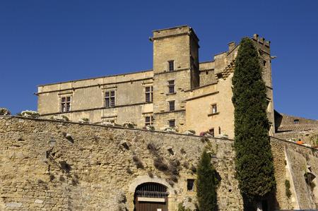 lourmarin: Castle of  Lourmarin, Provence Alpes, Cote d'Azur, France Editorial