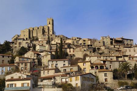 General wieu, Eus, Pirineos Orientales, Languedoc-Rosellón, Francia Foto de archivo - 54400354