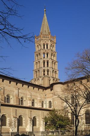 and saint: Basilica of Saint Sernin in Toulouse, France Stock Photo