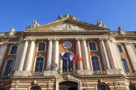 local landmark: city Hall Le Capitole de Toulouse, France Stock Photo