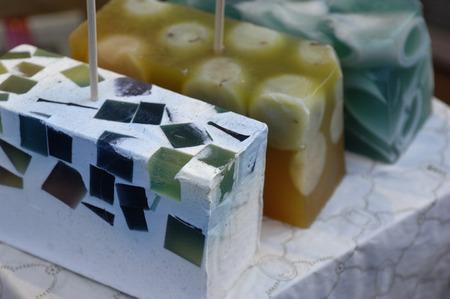 natural soap: natural soap Stock Photo