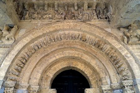 carrion: Pantocrator of the Church of Santa Maria in Carrion de los Condes; Palencia; Castilla y Leon; Spain; Stock Photo
