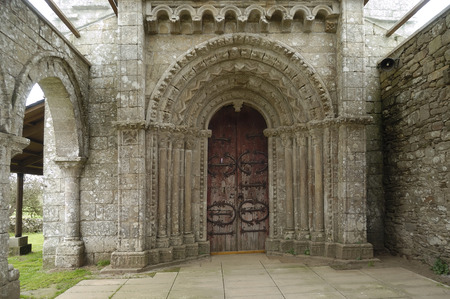 galicia: Church of Villar de Donas, Palas de Rey, Lugo,Galicia,Spain
