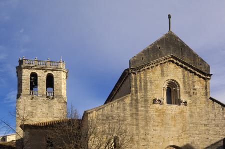 buiding: Romanesque church of Sant Pere de Besalu in the Garrotxa, Girona, Spain