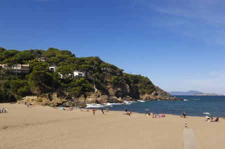Sa Riera Beach Begur, Costa Brava, Girona, Catalonië, Spanje