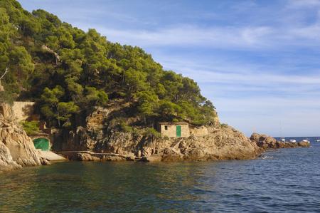 costa brava: Tamariu beach, Palafrugell,Costa Brava, Girona, Catalonia,Spain