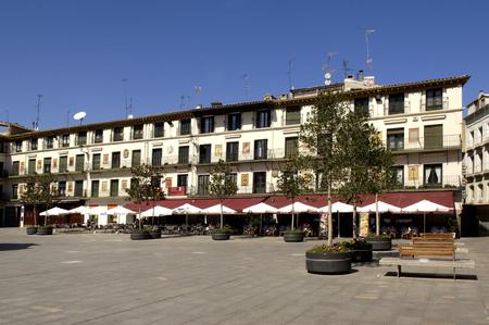 jurisdiction: The Fueros square, Tudela, La Rioja, Spain Stock Photo