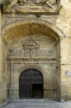 rioja: Door of La  Asuncion Church, Briones, La Rioja, Spain