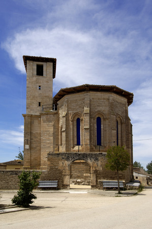 castilla leon: church of Ciadoncha, Burgos province, Castilla Leon, Spain