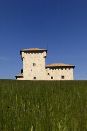 alava: tower �Torreon de Varona,� Villana�e, Alava, Basque Country, Spain Stock Photo