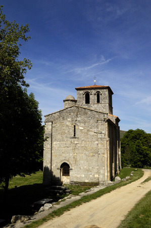 castile leon: Chapel of Our Lady of the Valley, Monasterio de Rodilla, La Bureba, Burgos province, Castile-Leon Spain