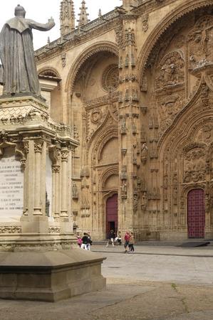 salamanca: facade and sculpture cathedral of Salamanca, Spain Stock Photo