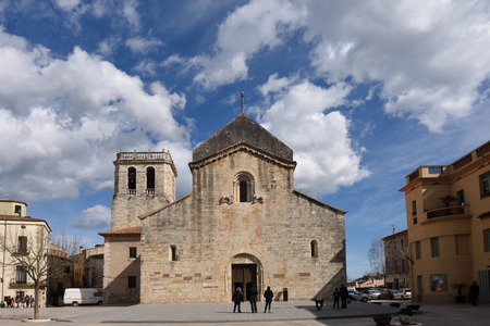 romanesque: Romanesque monastery of Sant Pere Besalu, (X Century) Girona province, Catalonia, Spain