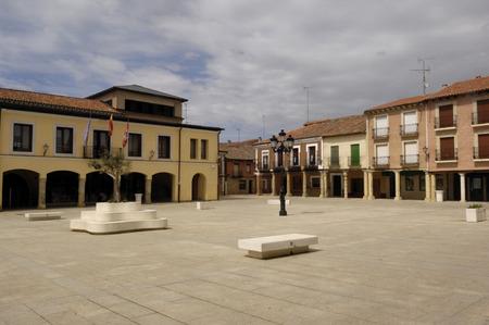 zamora: Main square of Villalpando, Zamora province, Castilla y Le�n,Spain