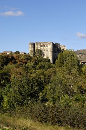 romaine: Castle, Alba la Romaine, Rhone-Alpes, Ardeche, France