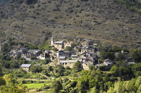pyrenees: Lladros village in the Cardos Valley ,Pyrenees mountains, Lleida, Spain Stock Photo