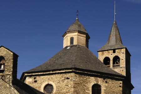 aran: Church of  Sant Felix,Vilac,Aran Valley, Lleida, Spain Stock Photo
