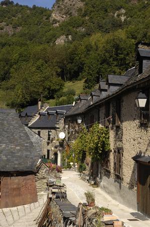 aran: Village,Begos,Aran Valley,Pyrennes mountain, Lleida province,Catalonia, Spain
