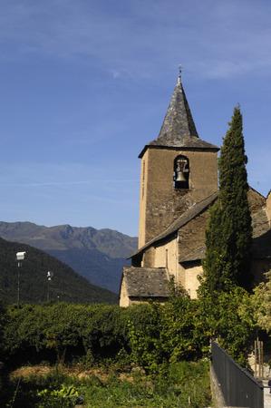 aran: Sant Peir church of  Betlan village,Aran Valley, pirenees, Lleida province, Spain