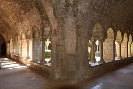 santa maria: Cloister of Santa Maria de Vilabertran, Girona province, Spain